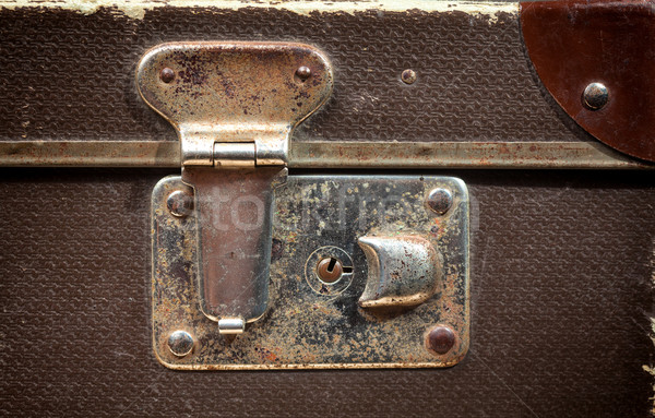 Detail of Old vintage suitcase Stock photo © IvicaNS