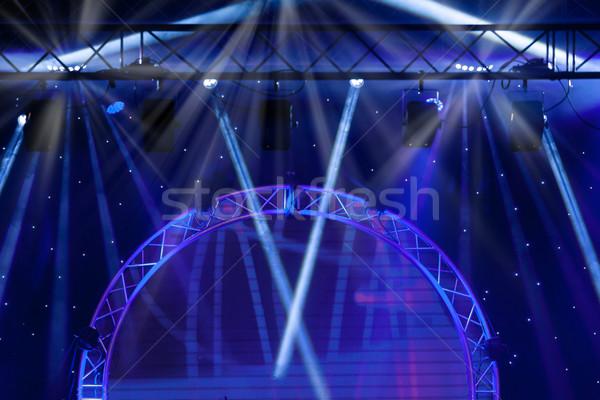 ストックフォト: 青 · ステージ · ライト · 光 · を見る · コンサート