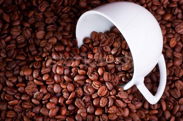 Grãos de café enchimento espaço Foto stock © IvicaNS