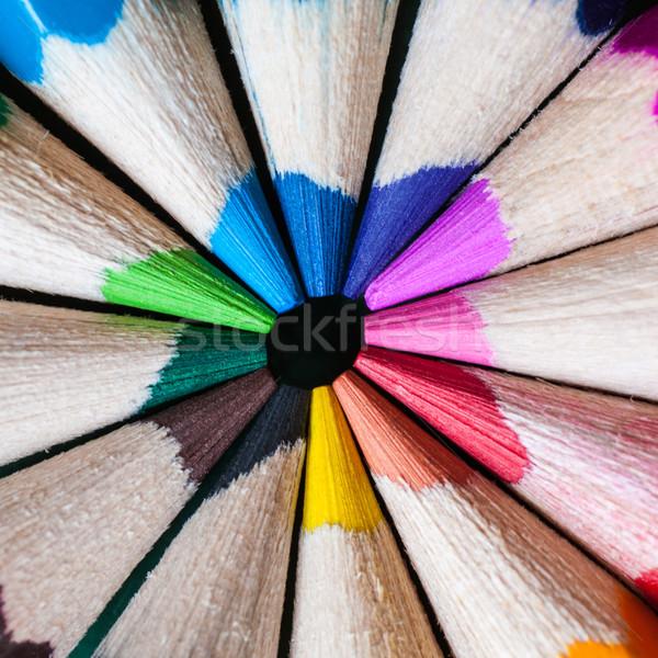 Kleur potloden vorm abstract lijnen patroon Stockfoto © IvicaNS