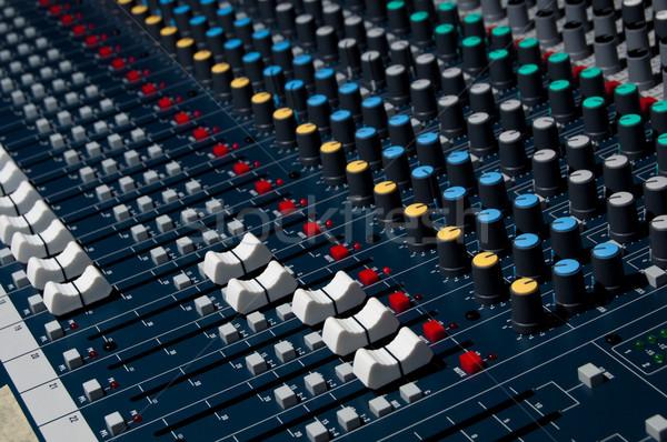 Sonido mezclador tiro superficial Foto stock © IvicaNS