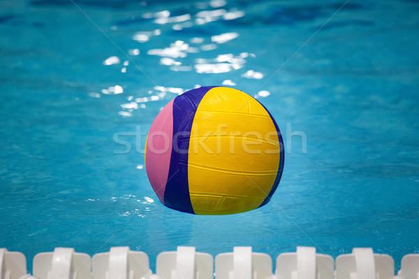 Vízilabda labda úszómedence víz egészség nyár Stock fotó © IvicaNS