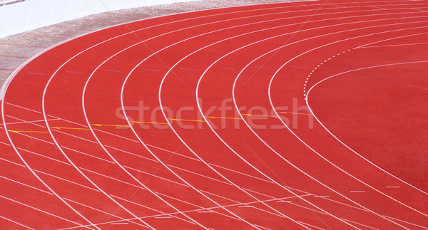 red running tracks with white lines Stock photo © IvicaNS
