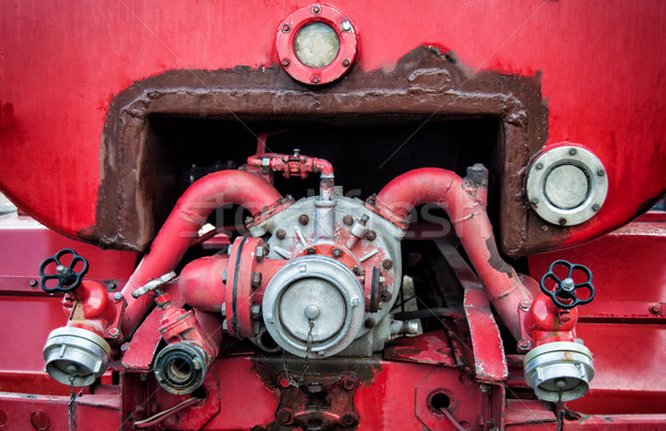 Old vintage fire engine detail Stock photo © IvicaNS