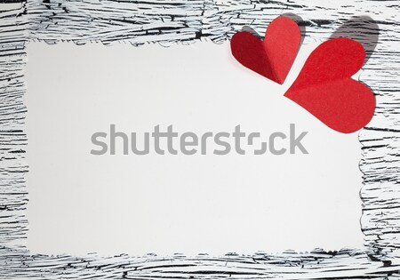 Colorful  red heart on vintage white paper Stock photo © IvicaNS