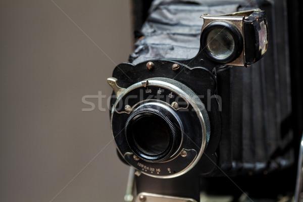 Eski eski fotoğraf makinesi bağbozumu klasik kamera gri Stok fotoğraf © IvicaNS
