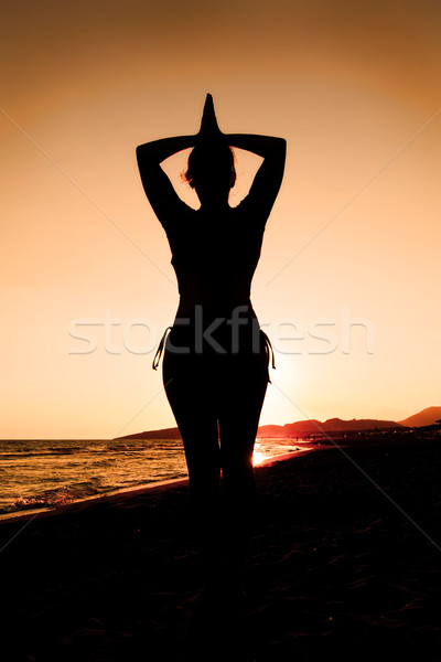 Woman silhouette Stock photo © IvicaNS