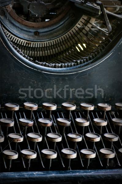 Oude vintage schrijfmachine kantoor Stockfoto © IvicaNS