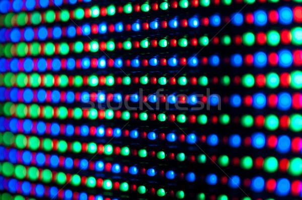 Diodo exibir painel vermelho azul foco Foto stock © IvicaNS