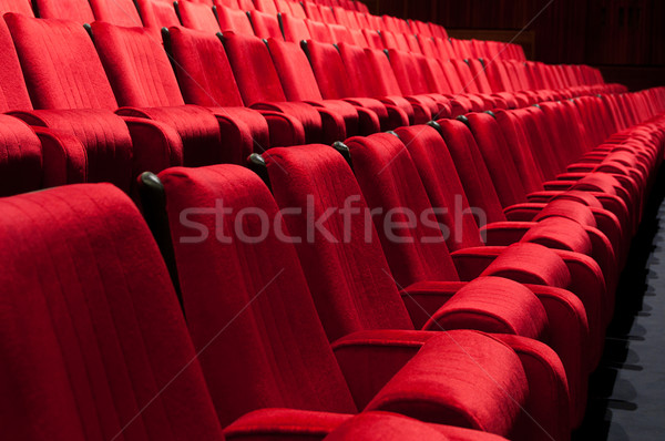 Teatro auditório vazio cinema conferência ouvir Foto stock © IvicaNS