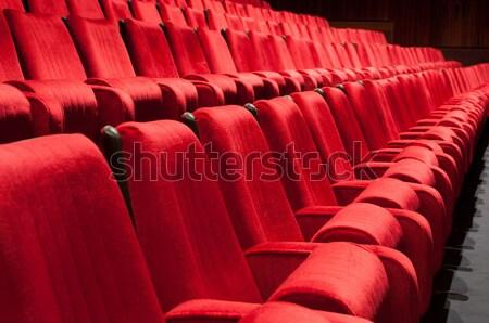 Tiyatro oditoryum boş sinema konferans salon Stok fotoğraf © IvicaNS