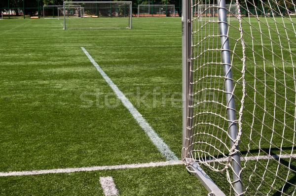 Futbol sahası futbol futbol manzara arka plan alan Stok fotoğraf © IvicaNS