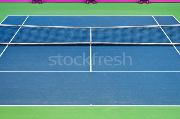 Tenis kortu görüntü boş arka yüzey doku Stok fotoğraf © IvicaNS
