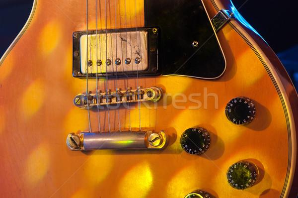 Elektrische gitaar foto vintage klassiek hout Stockfoto © IvicaNS