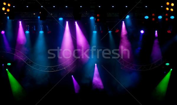Etapa luzes enfumaçado efeito laser Foto stock © IvicaNS