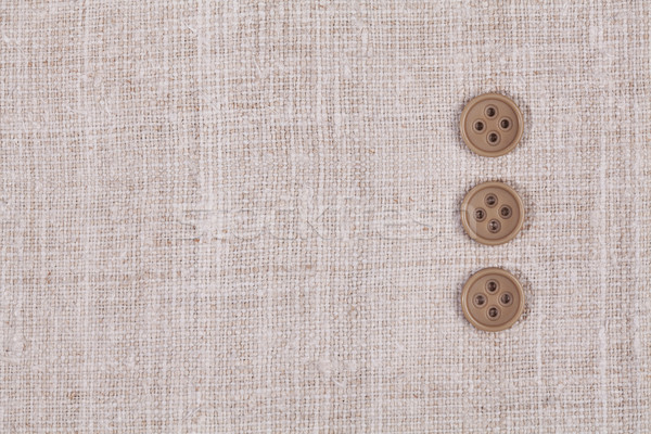 Drie knoppen rij weefsel textiel mode Stockfoto © IvicaNS