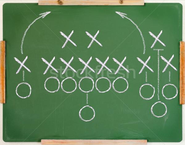 Oyun plan amerikan futbol oynamak diyagram Stok fotoğraf © IvicaNS