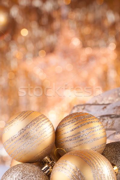 Goud christmas gouden lichten partij star Stockfoto © IvicaNS