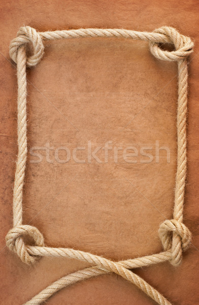 Oud papier touw textuur zee retro Stockfoto © IvicaNS