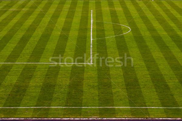 Futballpálya futball futball tájkép háttér mező Stock fotó © IvicaNS