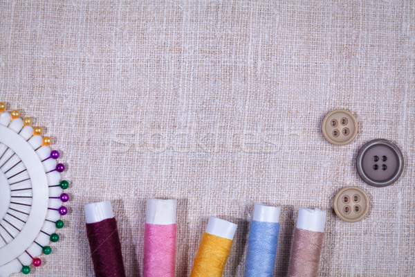 Vintage set of threads and buttons Stock photo © IvicaNS