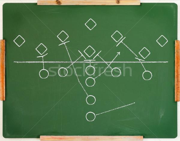Foto stock: Jogo · plano · americano · futebol · jogar · diagrama