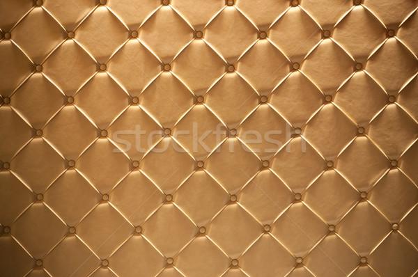 Leder textuur gouden nuttig mode Stockfoto © IvicaNS