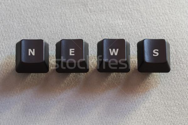 Bilgisayar düğmeler haber kelime dört siyah Stok fotoğraf © IvicaNS