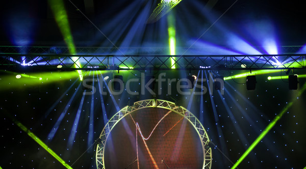 Stage lights with smoky effect background Stock photo © IvicaNS