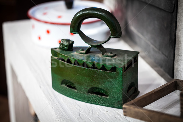Old green iron Stock photo © IvicaNS