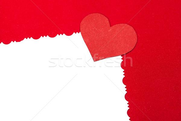 Színes piros papír szív klasszikus fehér Stock fotó © IvicaNS