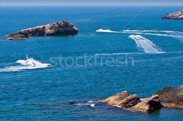 Open zee solide blauwe hemel water Blauw Stockfoto © IvicaNS