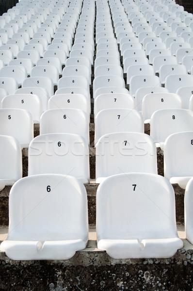 Műanyag üres fehér futball futball tenisz Stock fotó © IvicaNS