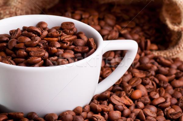 Koffiebonen achtergrond cafe zwarte Stockfoto © IvicaNS