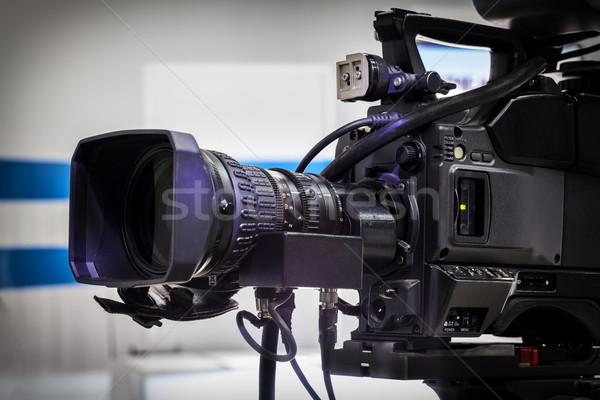 Videocamera lens show tv studio focus Stockfoto © IvicaNS