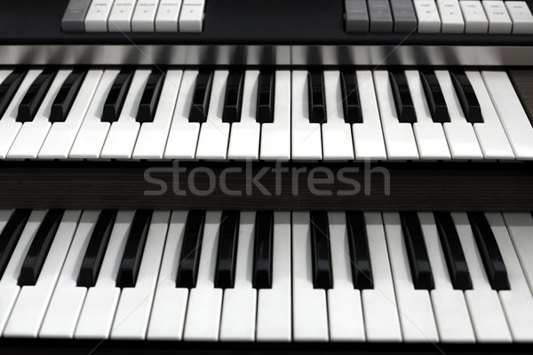 Top view of a church organ keyboard Stock photo © IvicaNS
