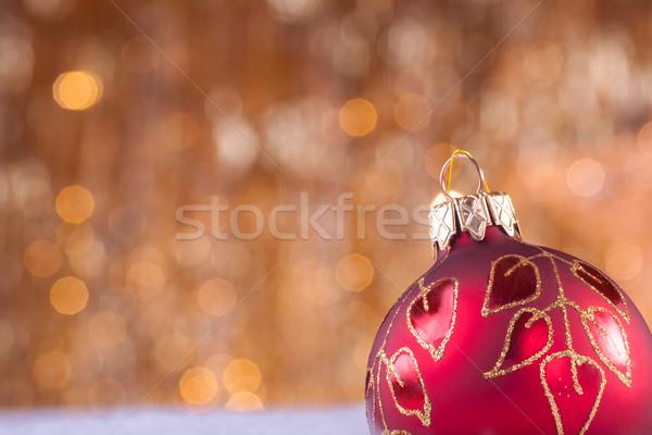 Rood goud christmas gouden lichten partij Stockfoto © IvicaNS