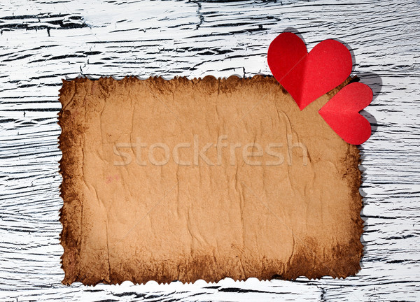 Colorido vermelho papel coração vintage cópia espaço Foto stock © IvicaNS
