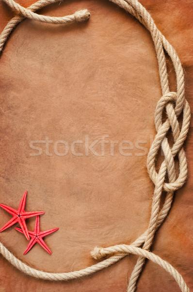 Oud papier touw zeester textuur schip Stockfoto © IvicaNS