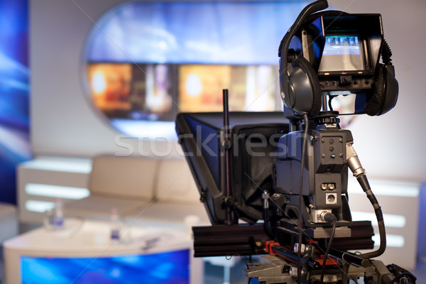 Videocamera show tv studio focus camera Stockfoto © IvicaNS