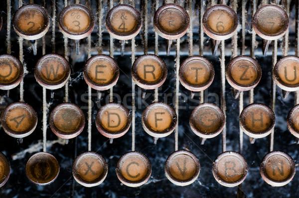 öreg közelkép klasszikus utasítás írógép iroda Stock fotó © IvicaNS