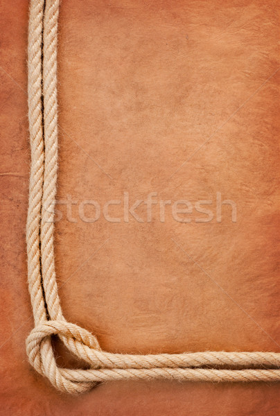 Old paper and rope Stock photo © IvicaNS