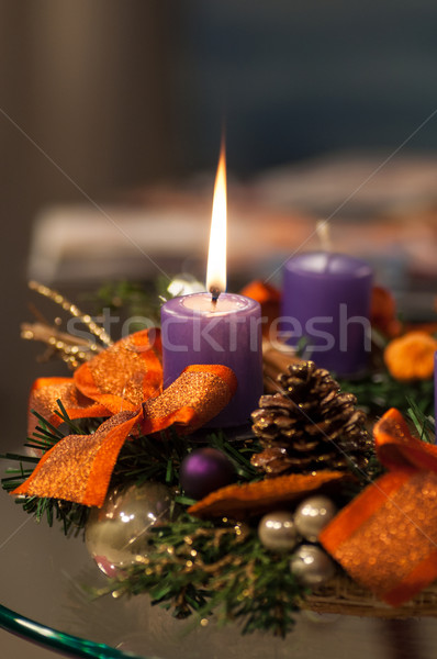 Karácsony gyertyák fény tél fények szín Stock fotó © IvicaNS