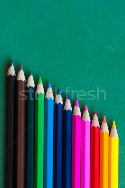 Szín ceruzák űrlap absztrakt vonalak minta Stock fotó © IvicaNS
