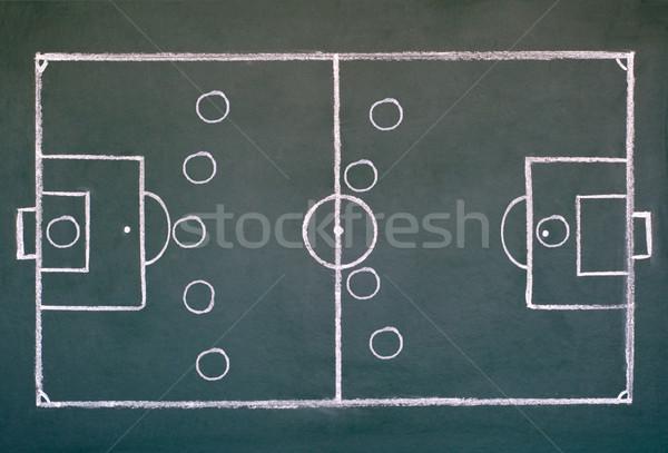 Campo de fútbol imagen escuela pizarra dibujo estrategia Foto stock © IvicaNS