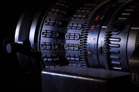 Videókamera lencse előadás tv stúdió fókusz Stock fotó © IvicaNS