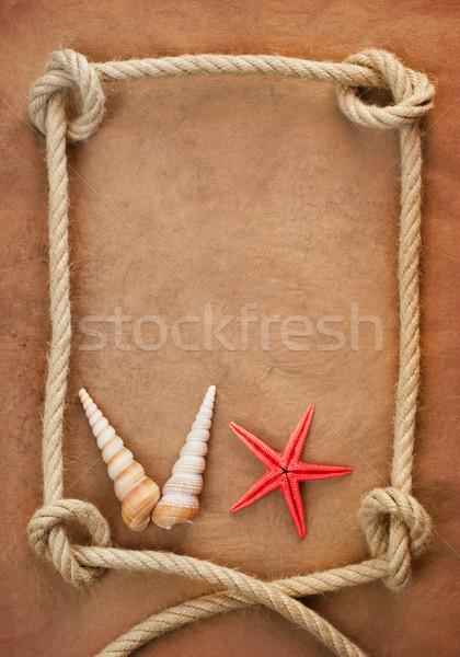 Oud papier touw textuur zee Stockfoto © IvicaNS