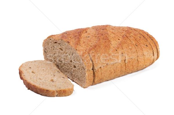 ストックフォト: 全体 · 穀物 · パン · 孤立した · 白 · 食品