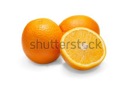 Ripe orange isolated on white background, orange Stock photo © ivo_13