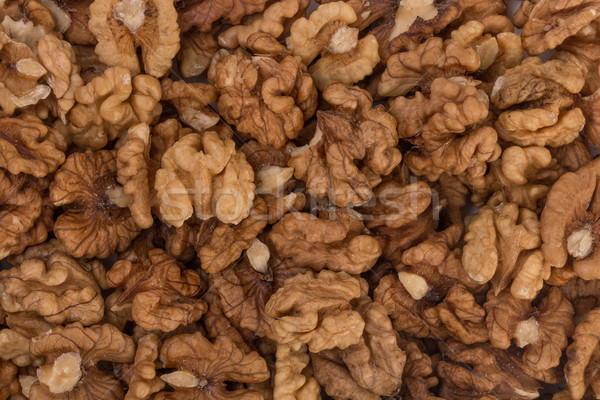 Closeup of big shelled walnuts pile Stock photo © ivo_13